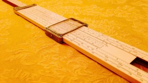 Slide Rule on Table