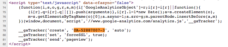 Analytics Code Example