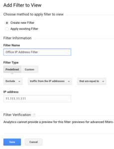 IP Address Filter